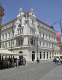 Sibiu,June 16:Historical Building from Downtown of Sibiu Romania stock photography