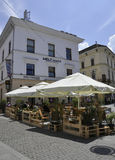 Sibiu,June 16:Terrace from Main Square of Sibiu in Romania Royalty Free Stock Photo