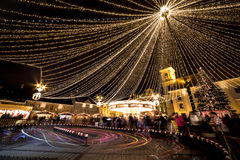 Sibiu Kerstmismarkt Stock Foto