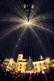 Sibiu Kerstmismarkt stock afbeelding