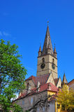 Sibiu Lutheran Kathedraal Stock Foto's