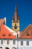 Sibiu - Lutherandomkyrka Arkivbild