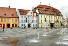 Sibiu Main Square Stock Images