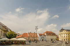 Sibiu Main Square Royalty Free Stock Image