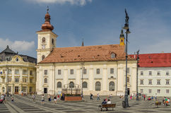 Sibiu Main Square Royalty Free Stock Photo