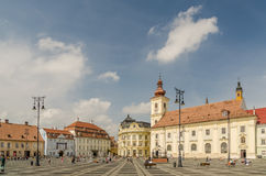 Sibiu Main Square royalty free stock photos