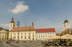 Sibiu Main Square stock image