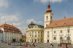 Sibiu Main Square Royalty Free Stock Images