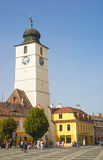 Sibiu main square in romania Royalty Free Stock Photo
