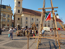 Sibiu medieval festival Stock Photo
