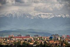 Sibiu-mening van boven op Royalty-vrije Stock Afbeelding