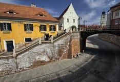 Sibiu mitt fotografering för bildbyråer