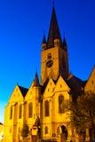 Sibiu - Nachtansicht Stockbild