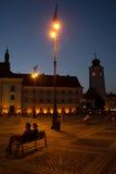 Sibiu - Nachtansicht Lizenzfreie Stockfotos