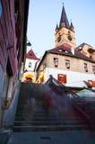 Sibiu by night - Romania Royalty Free Stock Photo