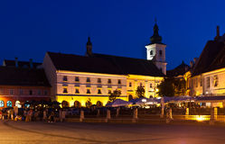 Sibiu - night view Royalty Free Stock Image