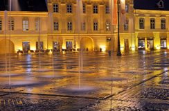 Sibiu Night View Stock Photography