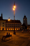 Sibiu - Night view Royalty Free Stock Photos