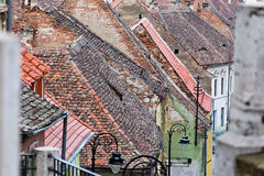 Sibiu old roofs Stock Image