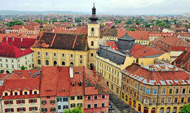 Sibiu old town from above Stock Photo