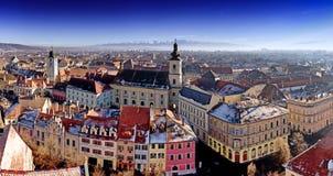 Sibiu panorama Transylvania Romania. HDR photo stock photo