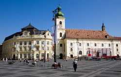 Sibiu-Piata Mare Royalty Free Stock Photo