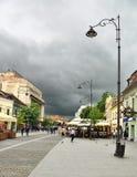 Sibiu pietonal road Royalty Free Stock Photos