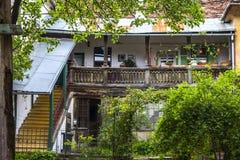 Sibiu - podwórko obraz stock
