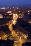 Sibiu por noche Foto de archivo