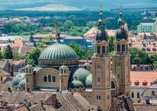 Sibiu in Roemenië Stock Foto