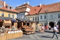 Sibiu, Roemenië stock afbeeldingen
