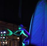 Vissen en meerminnen - straattheater Royalty-vrije Stock Foto's