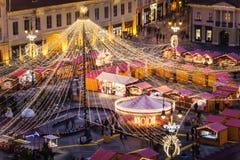 Sibiu, Roemenië, Kerstmismarkt royalty-vrije stock fotografie