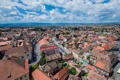 Sibiu in Romania Fotografie Stock Libere da Diritti