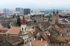 Sibiu in Romania. Aerial view of Sibiu, a city in Romania Royalty Free Stock Photography