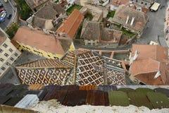 Sibiu in Romania. Aerial view of Sibiu, a city in Romania Stock Images