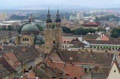Sibiu in Romania. Aerial view of Sibiu, a city in Romania Stock Image