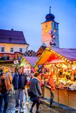 Sibiu, Romania, Christmas Market Royalty Free Stock Photography