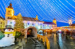 Sibiu, Romania, Christmas Market Stock Images