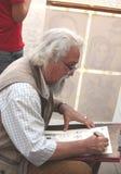 Pintor idoso Fotografia de Stock Royalty Free