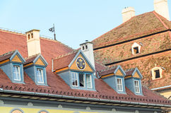 Sibiu, Romania detail of houses situated near downtown of the city Royalty Free Stock Image