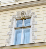 Sibiu, Romania: Details of old buildings near downtown. Stock Photo