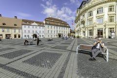 Sibiu, romania, europe, the big square Royalty Free Stock Images