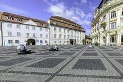 Sibiu, romania, europe, the big square Stock Image