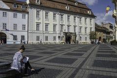 Sibiu, romania, europe, the big square Royalty Free Stock Photos