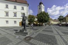Sibiu, romania, europe, the big square Stock Photography