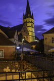 Sibiu, romania, europe, the small square foreshortened Royalty Free Stock Images