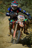 SIBIU, ROMANIA - JULY 18: Angus Macdonald competing in Red Bull ROMANIACS Hard Enduro Rally with a Chch Motorcycle motorcycle. The Stock Image