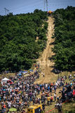 SIBIU, ROMANIA, JULY 16, 2016: Audience at Gusterita Hillclimb in Red Bull ROMANIACS Hard Enduro Rally Stock Image