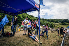 SIBIU, ROMANIA, JULY 16, 2016: Audience at Red Bull ROMANIACS Hard Enduro Rally Stock Photography